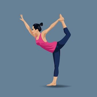 Illustration de pose de yoga