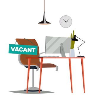 Illustration de poste vacant