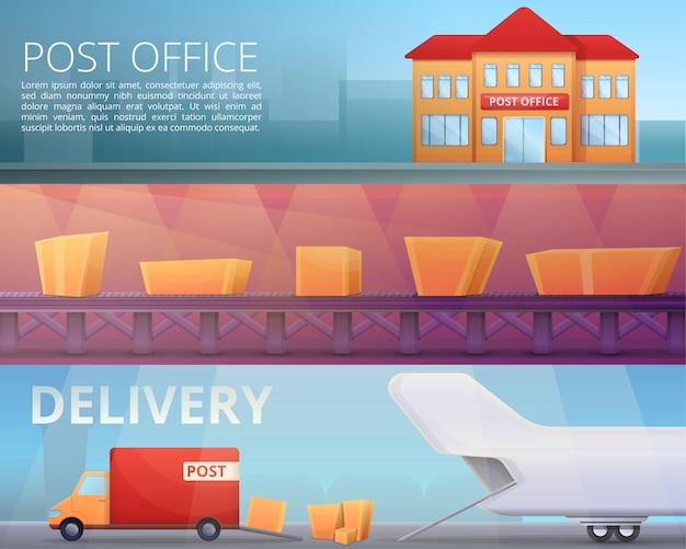 Illustration de postier de livraison sur le style de dessin animé