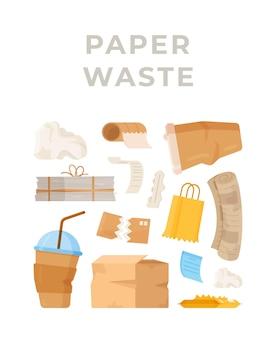 Illustration de poubelle en carton