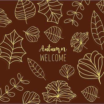 Illustration Pour Accueillir L'automne De La Nouvelle Saison Vecteur gratuit