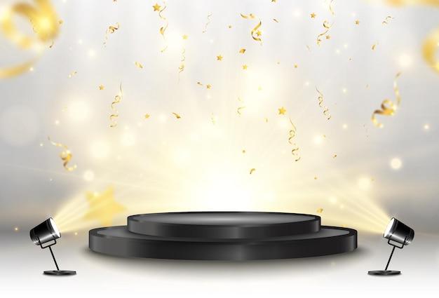 Illustration pour les lauréats piédestal ou plate-forme pour honorer les lauréats