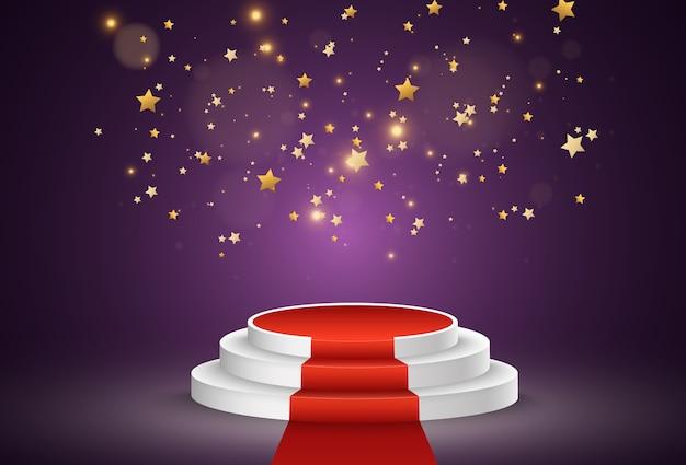 Illustration pour les lauréats piédestal ou plateforme pour honorer les lauréats