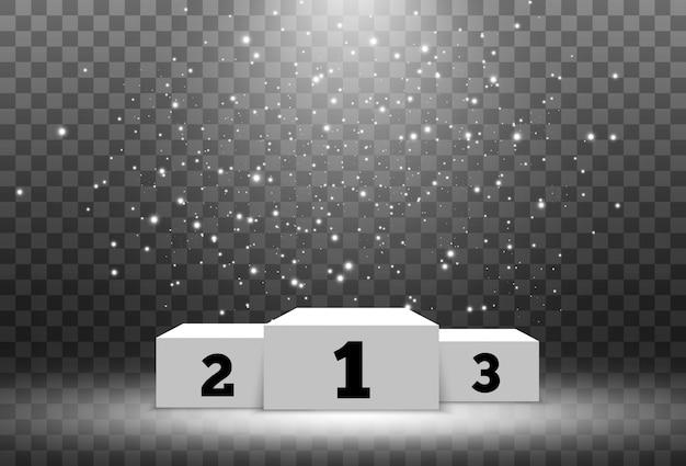Illustration pour les lauréats. piédestal ou plateforme pour honorer les lauréats.