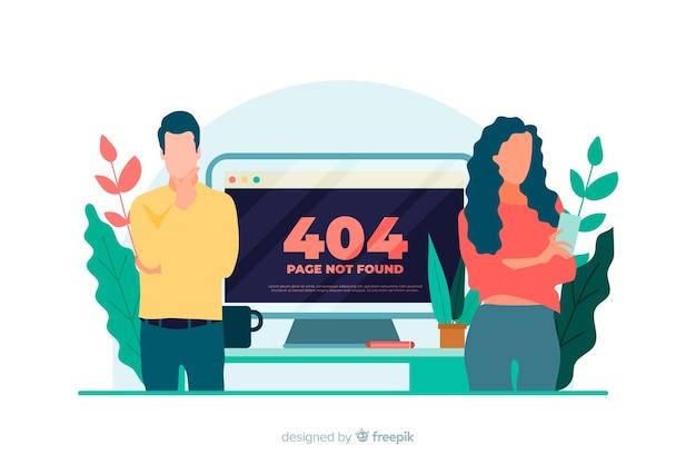 Illustration pour la page de destination avec le concept d'erreur 404