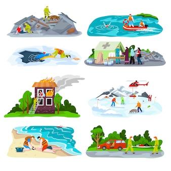 Illustration de premiers soins de noyade de sauvetage
