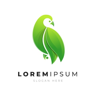 Illustration premium du logo d'oiseau abstrait coloré