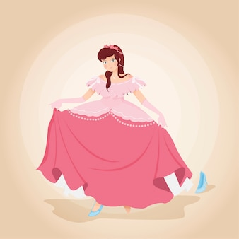 Illustration avec la princesse cendrillon