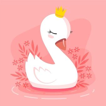 Illustration de la princesse cygne
