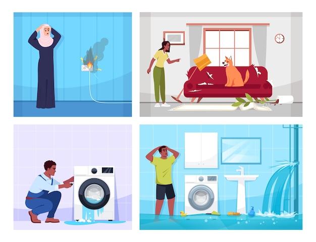 Illustration des problèmes domestiques