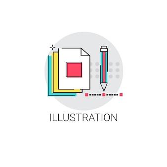 Illustration processus créatif design numérique