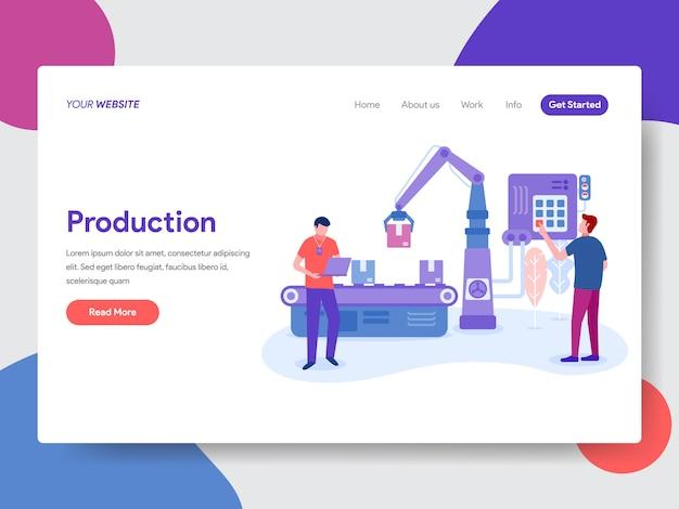 Illustration de production pour la page d'accueil