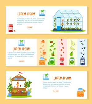 Illustration de produit de confiture de fruits.
