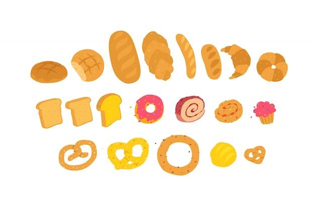 Illustration de produits de boulangerie.