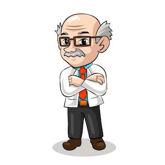 Illustration de professeur de mascotte mignonne