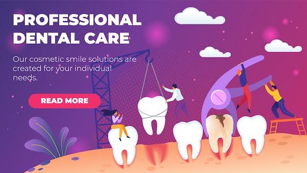 Illustration professionnelle de soins dentaires.