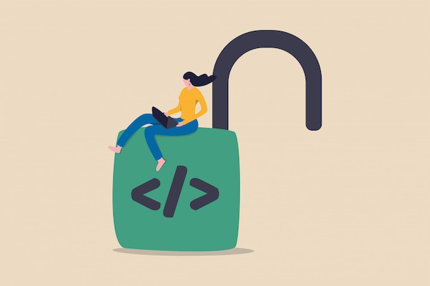 Illustration de programmation open source