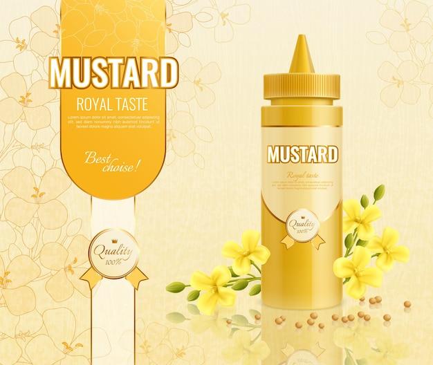 Illustration publicitaire moutarde