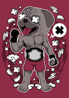 Illustration de pug fighter