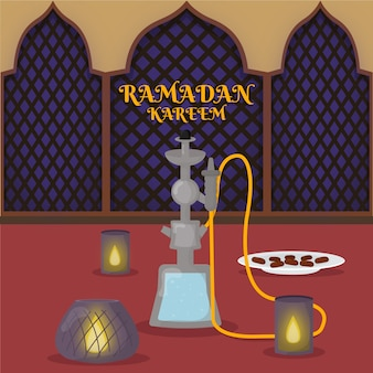 Illustration de ramadan design plat