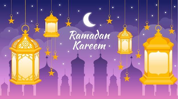 Illustration de ramadan kareem dessiné à la main