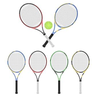 Illustration de raquette de tennis isolé sur fond blanc