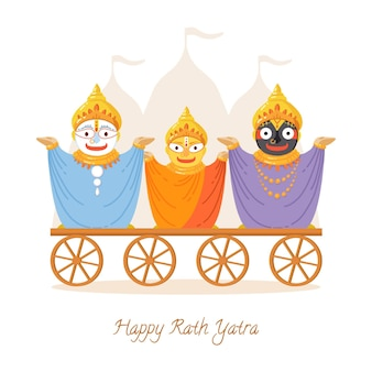 Illustration de rath yatra plat organique