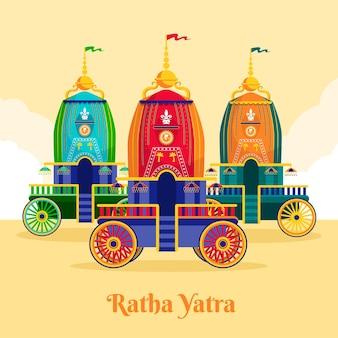 Illustration de rath yatra plat