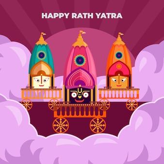 Illustration de rath yatra