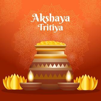 Illustration réaliste akshaya tritiya