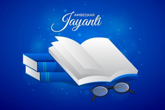 Illustration réaliste d'ambedkar jayanti