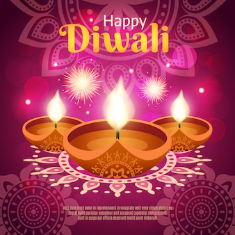 Illustration réaliste de diwali