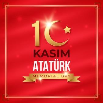 Illustration réaliste du jour commémoratif d'ataturk