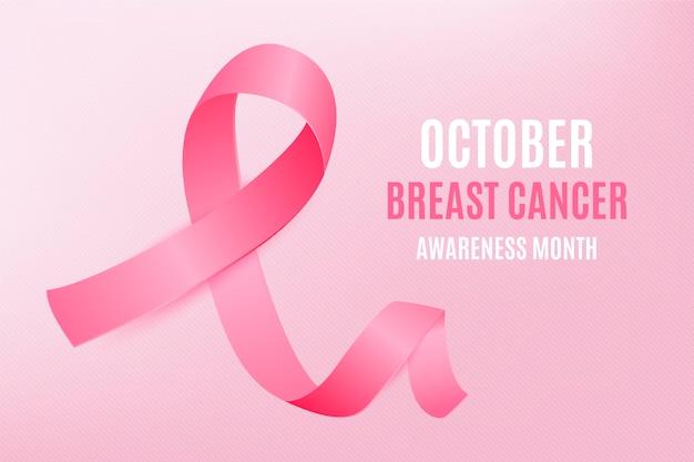 Illustration réaliste du mois de sensibilisation au cancer du sein