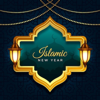 Illustration réaliste du nouvel an islamique