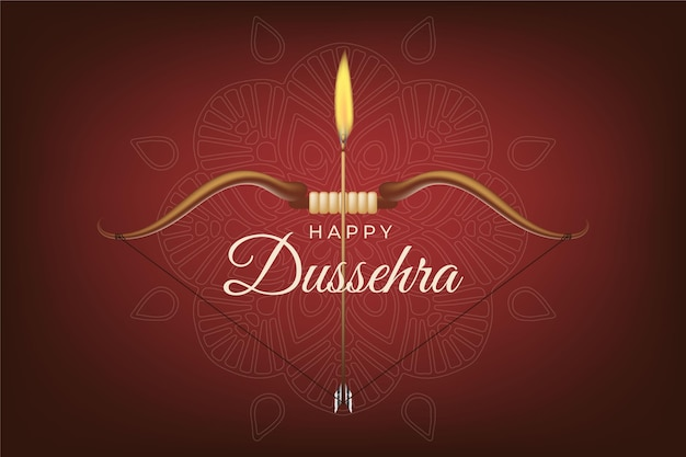 Illustration réaliste de dussehra
