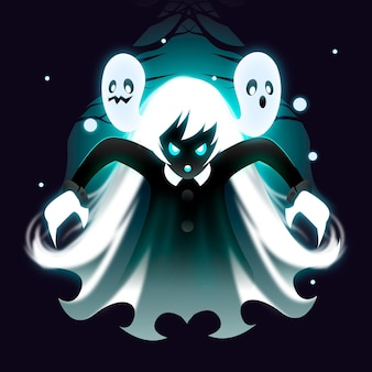 Illustration réaliste de fantôme d'halloween