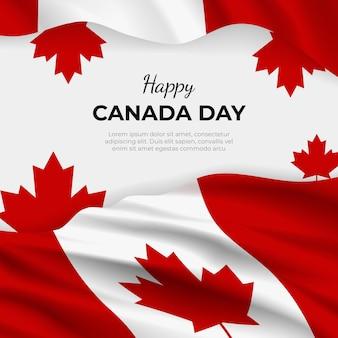 Illustration réaliste de la fête du canada