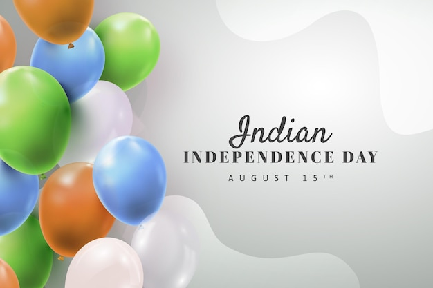 Illustration réaliste de la fête de l'indépendance indienne