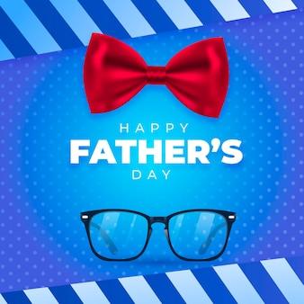 Illustration réaliste de la fête des pères heureux