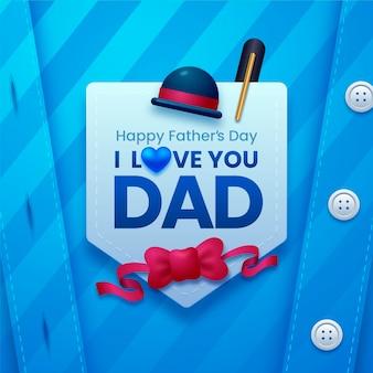 Illustration réaliste de la fête des pères