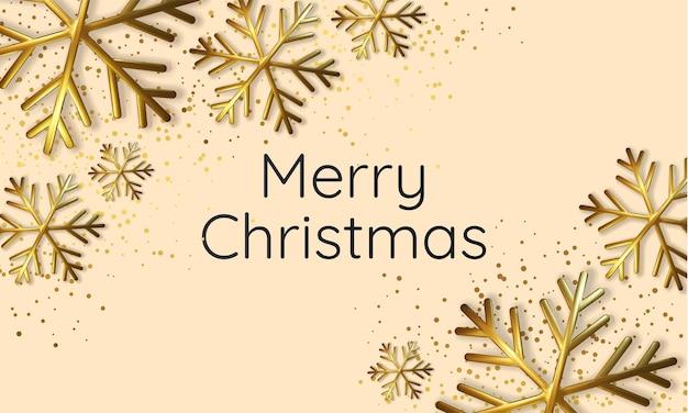 Illustration réaliste d'un flocon de neige métallique scintillant. carte de voeux, invitation bonne année et noël.