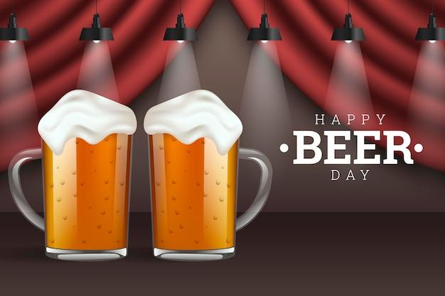 Illustration réaliste de la journée internationale de la bière