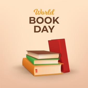 Illustration réaliste de la journée mondiale du livre