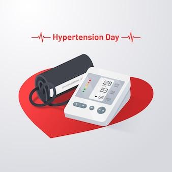 Illustration réaliste de la journée mondiale de l'hypertension