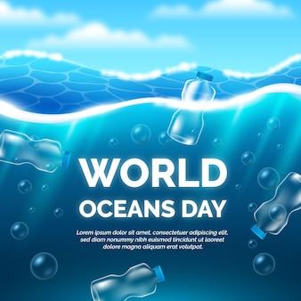Illustration réaliste de la journée mondiale des océans