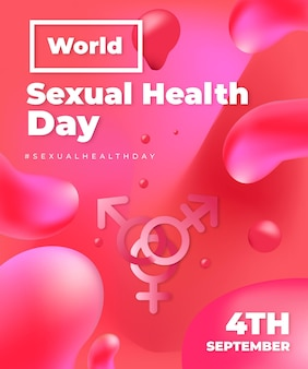 Illustration réaliste de la journée mondiale de la santé sexuelle
