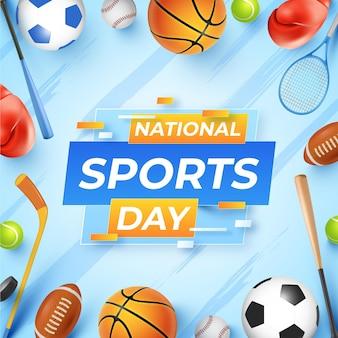 Illustration réaliste de la journée nationale du sport indonésien