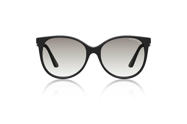 Illustration réaliste de lunettes de soleil isolé sur fond blanc