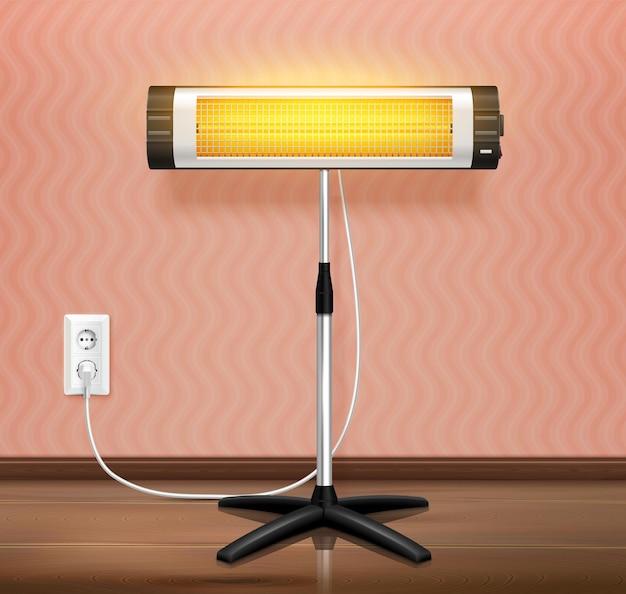 Illustration réaliste des ondes de chauffage infrarouge